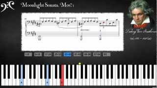 "getlinkyoutube.com-Beethoven - ""Moonlight"" Sonata (Learn to play)."