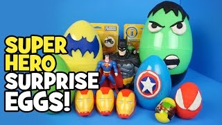 getlinkyoutube.com-Avengers Toys - Play-doh Surprise Eggs w/ Imaginext Batman Toys Avengers & Spiderman Toys by KidCity