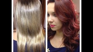 getlinkyoutube.com-Bleach Blonde to Red Violet Makeover