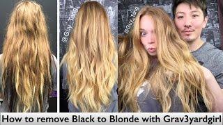 getlinkyoutube.com-How to remove Black to Blonde with Grav3yardgirl