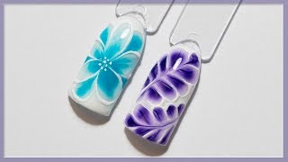 getlinkyoutube.com-Весенний дизайн ногтей по мокрому гель-лаку | Маникюр цветок, веточка | Гель-лаки Naomi