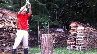 getlinkyoutube.com-pineの薪割り