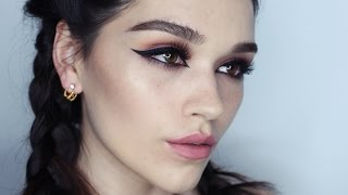 getlinkyoutube.com-Arab eye  inspired makeup tutorial