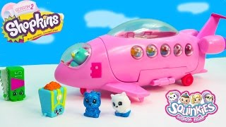 getlinkyoutube.com-Shopkins Fan Squinkies Pop Star Private Jet Airplane Season 2 Playset Playing Video Cookieswirlc