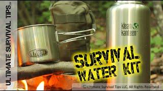 getlinkyoutube.com-DIY - Survival / Bug Out Water & Filter Kit - EDC - Emergency - Sawyer / Klean Kanteen / GSI