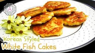 Korean Styled White Fish Cakes (흰살 생선전)