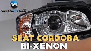 getlinkyoutube.com-Seat Cordoba projectors retrofit, bi xenon installation