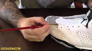 "getlinkyoutube.com-Custom ""White Cement"" Air Jordan 6"