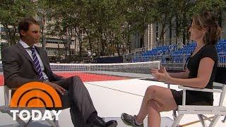 Rafael Nadal Returns To U.S. Open, Faces Off Against Savannah | TODAY