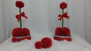 getlinkyoutube.com-Aula 71 - Como fazer um arranjo lindo com caixa de sabão e papel crepom