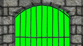 getlinkyoutube.com-Looking through dungeon window - green screen effect