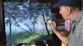 Как рисовать туман в лесу с