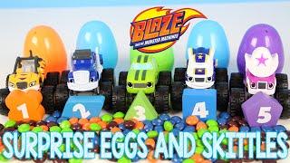 getlinkyoutube.com-Blaze and the Monster Machines Surprise Egg Skittles