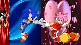 Sonic the Hedgehog  and Amy the Hedgehog play London 2012 games