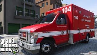 getlinkyoutube.com-GTA 5 | Rescue Mod V By Gangrenn Day 9 | Paramedic Mod | New Ford E450 LAFD Ambulance