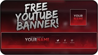 Free Youtube Banner Template PSD + Direct Download Link - [NEW 2015!]
