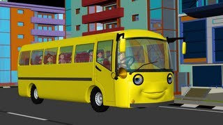 getlinkyoutube.com-The Wheels on the Bus go round and round - 3D Animation English rhyme for children