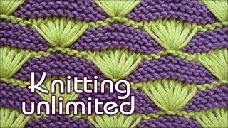 getlinkyoutube.com-Shells on a Garter-stitch Background