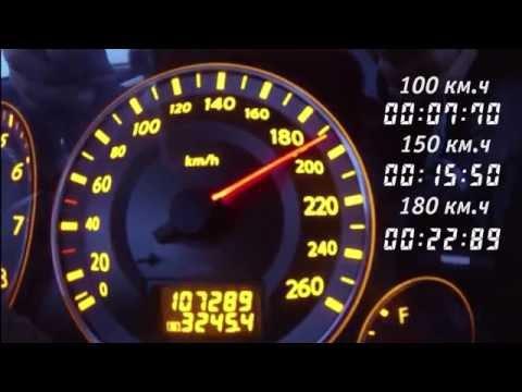 Разгон Infinity FX35 2007, 3,5 сток, до 100 км.ч, 150 км.ч., 180 км.ч.