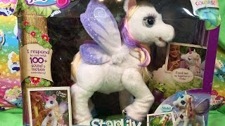 getlinkyoutube.com-StarLily My Magical Unicorn Pet FurReal Friends Fantasy Collection Plush Hasbro Review Unboxing
