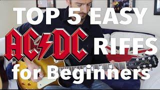 5 EASY AC/DC Songs for Beginner Guitar