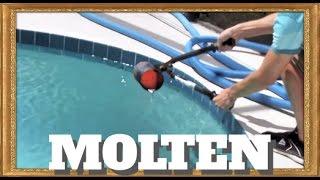 Pouring molten aluminum into a pool!!
