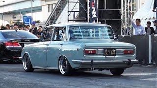getlinkyoutube.com-【TOYOTA コロナ】 StanceNation 2015 Tokyo G Edition スタンスネーション CORONA 車高短 シャコタン Lowered Low car exhaust