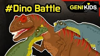 getlinkyoutube.com-My Super DINO Fighting Short Movie | Dinosaurs Battle cartoon for children ★Genikids