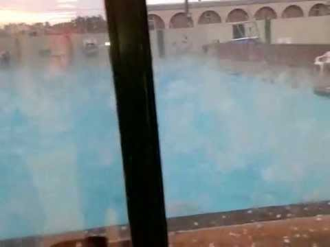 Hail storm at pool Cardston Alberta July 26th 2012 By Oakley Paterson