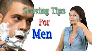 शेविंग टिप्स Shaving Tips For Men   How To Do Shave - Skin Care Beauty Tips In Hindi width=