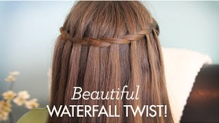 getlinkyoutube.com-Beautiful Waterfall Twist | Cute Girls Hairstyles