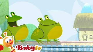 getlinkyoutube.com-Tricky Tracks Train - Counting with Green Frogs | BabyTV