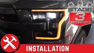 getlinkyoutube.com-2015-2016 F-150 Raptor Retrofit OEM Halogen to LED Headlights Install