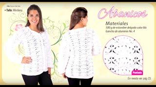 getlinkyoutube.com-Aprende paso a paso a tejer un suéter con gancho