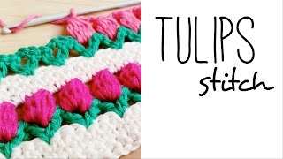 getlinkyoutube.com-How to crochet TULIP STITCH ♥ CROCHET LOVERS