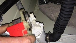 Lavadora no vacía, comprobar y sustituir bomba desagüe. Washer machine doesn't drain water, solution