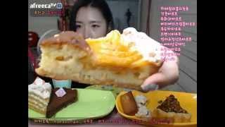 getlinkyoutube.com-피트니스요정) 러블리숑숑 타르트 디저트 특집 먹방 eatingshow 150910