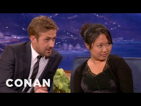 Ryan Gosling Drafts An Interview Buddy From The Audience - CONAN on TBS