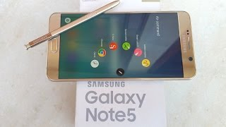 getlinkyoutube.com-Samsung Galaxy Note 5 (Gold) - Unboxing & First Look!