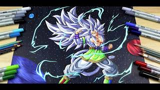 Drawing ✖️ GOKU Super Saiyan 5 In Space ✖️ | TolgArt