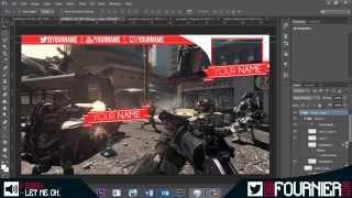 getlinkyoutube.com-Free epic gaming video overlay template, 2in1 (PSD) speed art | fournier.