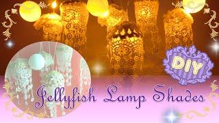 getlinkyoutube.com-【DIY】 お部屋を癒しの空間に① くらげランプの作り方 ~How to make Jellyfish Lamp Shades ~