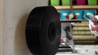 getlinkyoutube.com-Tesla Turbine from Hard Drive Platters for electrical power generation energy free hack