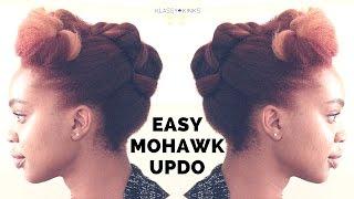 getlinkyoutube.com-Easy Mohawk Updo | Natural Hair