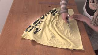 getlinkyoutube.com-How to Cut a T-Shirt Into a Racerback Braided Tank Without Sewing : DIY Shirt Designs