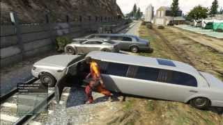 getlinkyoutube.com-GTA 5 LET's PLAY WITH TRAIN LIMO BARRAGE