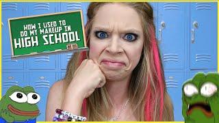 getlinkyoutube.com-HOW I DID MY MAKEUP IN HIGH SCHOOL | GRAV3YARDGIRL
