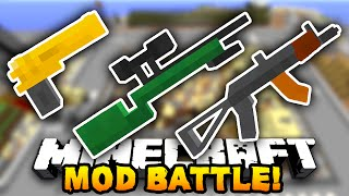getlinkyoutube.com-Minecraft EPIC GUN MOD BATTLE! (Minecraft Flan's Mod) w/ PrestonPlayz & The Pack!