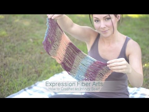 How To Crochet a Self-Striping Infinity Scarf The EASY WAY!