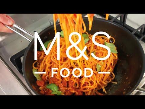Chris' Smoky Tomato and Salami Linguine   M&S FOOD